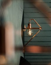 Inspired by industrial style, the Cu 150 Copper Wall Lamp is the perfect addition to any den or office.