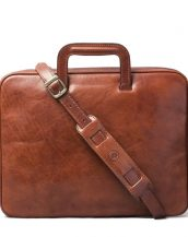 The Tutti is a luxury Italian leather document case that is large enough to accommodate a small laptop.