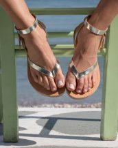 With a Greek style, the Kythnos Greek Leather Sandal will look amazing with your summer dress, shorts, jeans and of course with your swimwear.