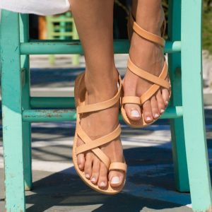 The Kleio Greek Leather Sandal is a true jewellery for your feet, yet very comfortable.
