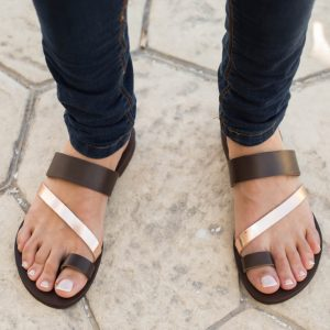 Completely handmade with cow leather, the Nemesis Greek Leather Sandal is made from superior leather combined with a recyclable rubber sole.