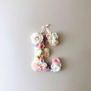 Completely handmade, the Salmon Pink Custom Flower Letter is a great for decoration at a wedding using the couples initials, and a lovely keepsake for afterwards.