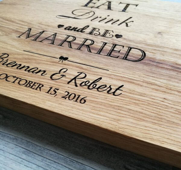 MSDAKD003 – Personalized Eat Drink and Be Married Cutting Board – 3