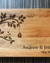 Ideal for use as a small chopping, the Personalised Wedding Tree Cutting Board makes a beautiful centrepiece for your table.