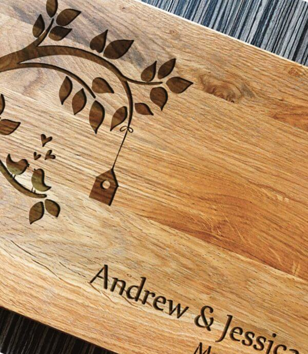 MSDAKD004 – Personalised Wedding Tree Cutting Board – 3
