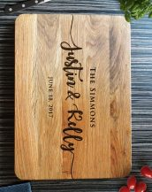 Ideal for use as a small chopping, the Personalized Cutting Board Wedding Gift makes a beautiful centrepiece for your table.