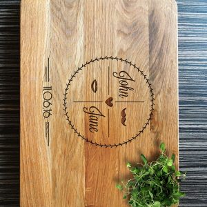 Ideal for use as a small chopping, the Personalised Cutting Board Housewarming Gift makes a beautiful centrepiece for your table.