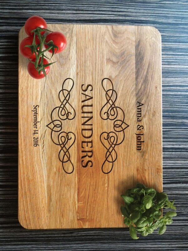 MSDAKD014 – Personalised Cutting Board Saunders – 3
