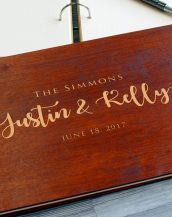 Available in A4 and A5 size, the Personalised Wooden Wedding Guest Book - The Simmons is a beautiful Wedding Guest Book made of wood that will accurately keep your memories about this special day.