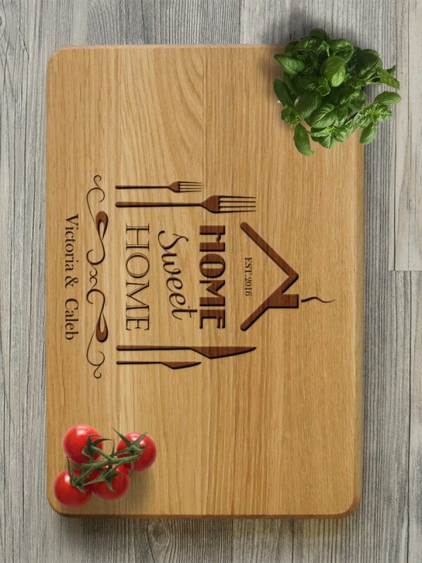 MSDAKD018 – Personalised Cutting Board Home Sweet Home – 3