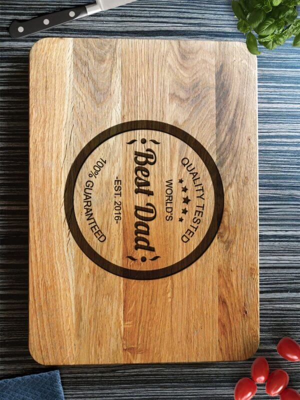 MSDAKD025 – Personalised Cutting Board – World's Best Dad – 2