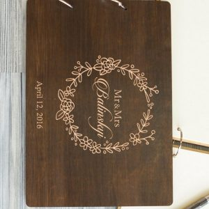 Available in A4 and A5 size, the Personalised Wooden Wedding Guest Book - Balinskyi is a beautiful Wedding Guest Book made of wood that will accurately keep your memories about this special day.