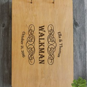 Available in A4 and A5 size, the Personalised Wooden Wedding Guest Book - Walkman is a beautiful Wedding Guest Book made of wood that will accurately keep your memories about this special day.