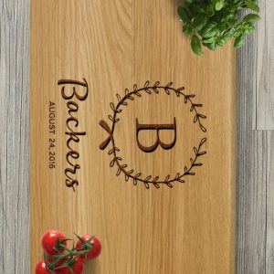 Ideal for use as a small chopping, the Personalised Cutting Board - Backers makes a beautiful centrepiece for your table. It's so handy to have around that you can use it for chopping anything on a daily basis.