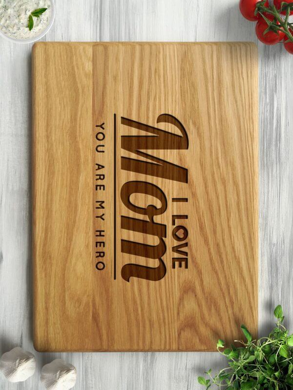 MSDAKD029 – Personalised Cutting Board – I Love You Mom – 4