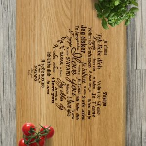 Ideal for use as a small chopping, the Personalised Cutting Board - I Love You makes a beautiful centrepiece for your table.