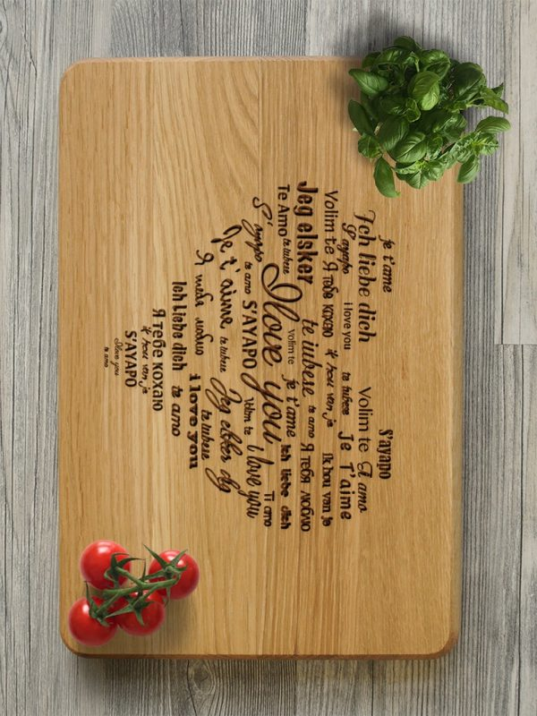 MSDAKD031 – Personalised Cutting Board – I Love You – 3