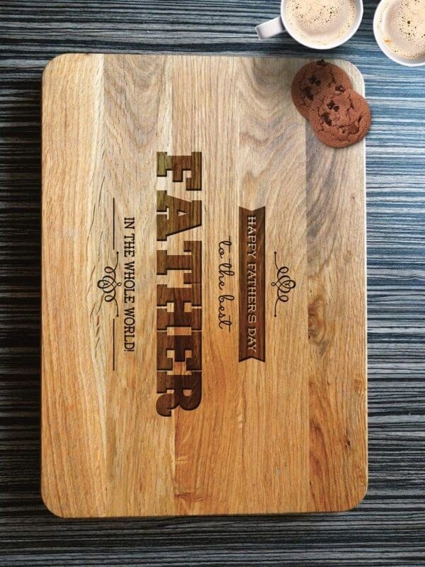 MSDAKD032 – Personalised Cutting Board – World's Best Father