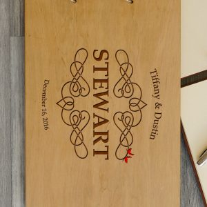 Available in A4 and A5 size, the Personalised Wooden Wedding Guest Book - Stewart is a beautiful Wedding Guest Book made of wood that will accurately keep your memories about this special day.
