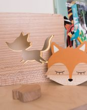 With a delicate warm light to bring a lot of joy and coziness to the child's room, the Fox Nursery Lamp will comfort your little one when falling asleep or to join them during sleepovers or to decorate their room.