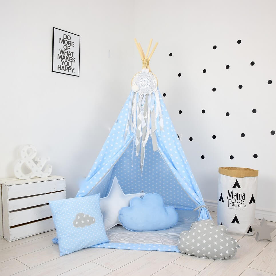 Baby Blue Children S Teepee Tent Decorative Kids Play