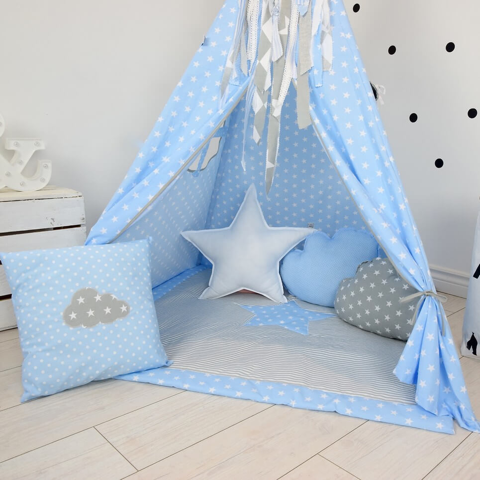 BABY BLUE CHILDREN'S TEEPEE TENT | Decorative Kids' Play ...
