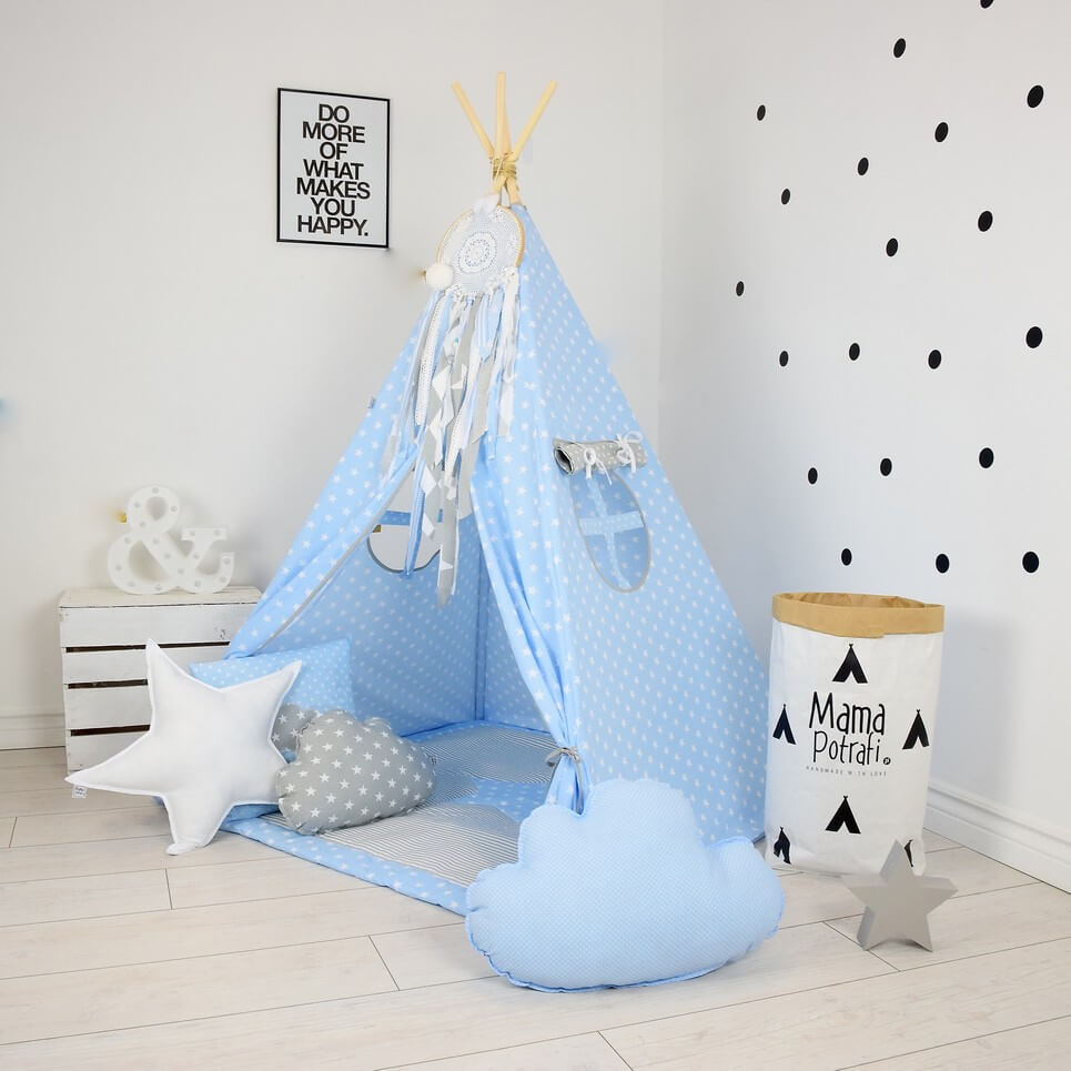 MSGFFK013 u2013 Baby Blue Childrenu0027s Teepee Tent  sc 1 st  A Matter of Style & BABY BLUE CHILDRENu0027S TEEPEE TENT | Decorative Kidsu0027 Play Tents by ...