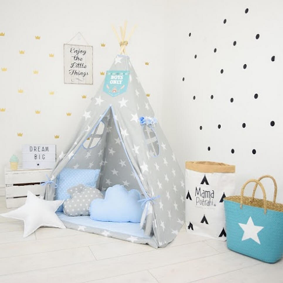 MSGFFK015 u2013 Blue Hero Childrenu0027s Teepee Tent  sc 1 st  A Matter of Style & BLUE HERO CHILDRENu0027S TEEPEE TENT | Decorative Kidsu0027 Play Tents by ...