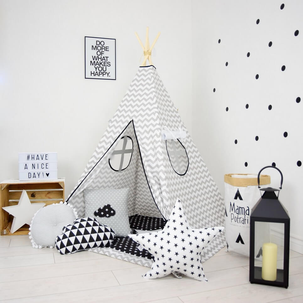 chevron children s teepee tent decorative kids play tents by a rh amatterofstyle eu Teepee Tents for Camping Native American Teepee Tents