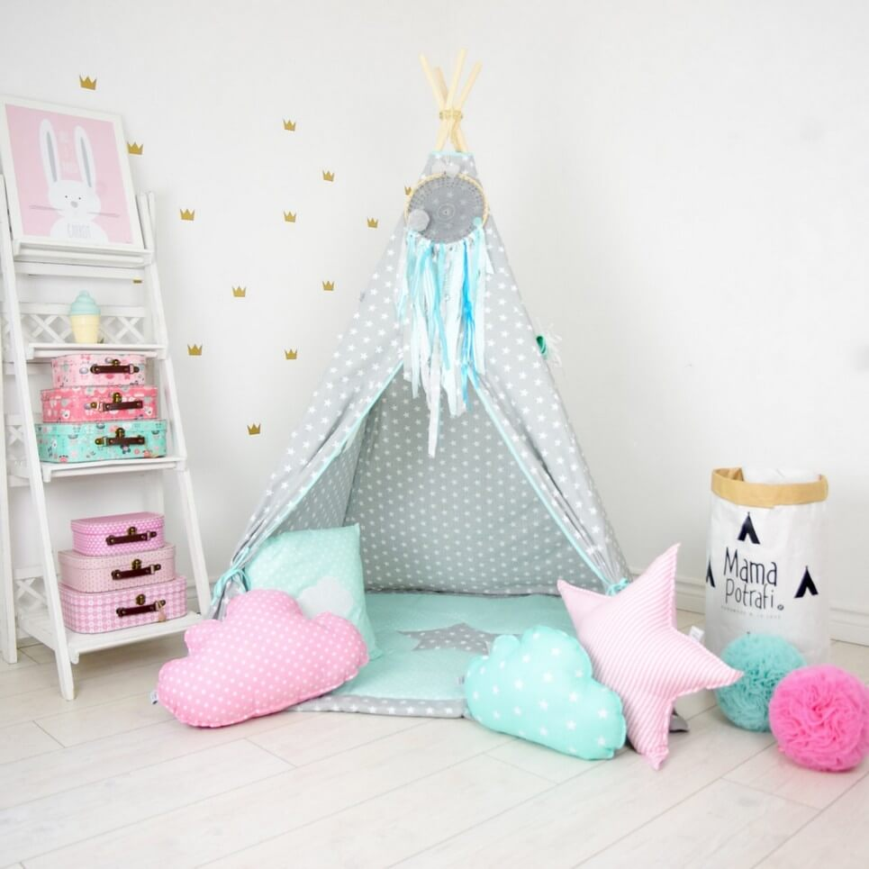 Add the perfect touch to your childu0027s room with the Family Stories Childrenu0027s Teepee Tent.  sc 1 st  A Matter of Style : childrens teepee tents - memphite.com