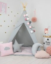 Add the perfect touch to your child's room with the Fig Princess Children's Teepee Tent. Let your little enjoy their own teepee for hours of play time and imagination.