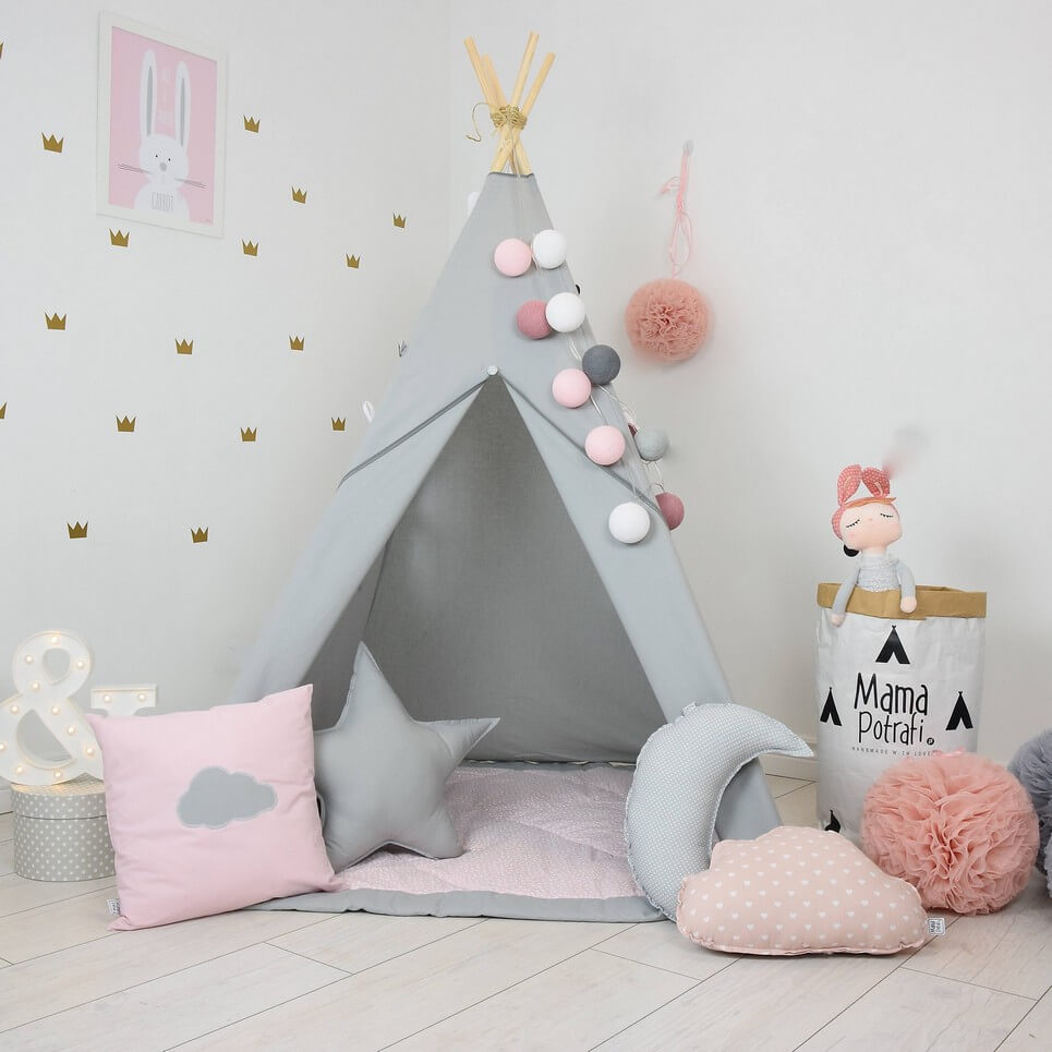 Add the perfect touch to your childu0027s room with the Fig Princess Childrenu0027s Teepee Tent.  sc 1 st  A Matter of Style & FIG PRINCESS CHILDRENu0027S TEEPEE TENT | Decorative Kidsu0027 Play Tents ...