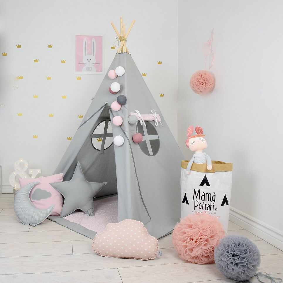 MSGFFK019 u2013 Fig Princess Childrenu0027s Teepee Tent & FIG PRINCESS CHILDRENu0027S TEEPEE TENT | Decorative Kidsu0027 Play Tents ...