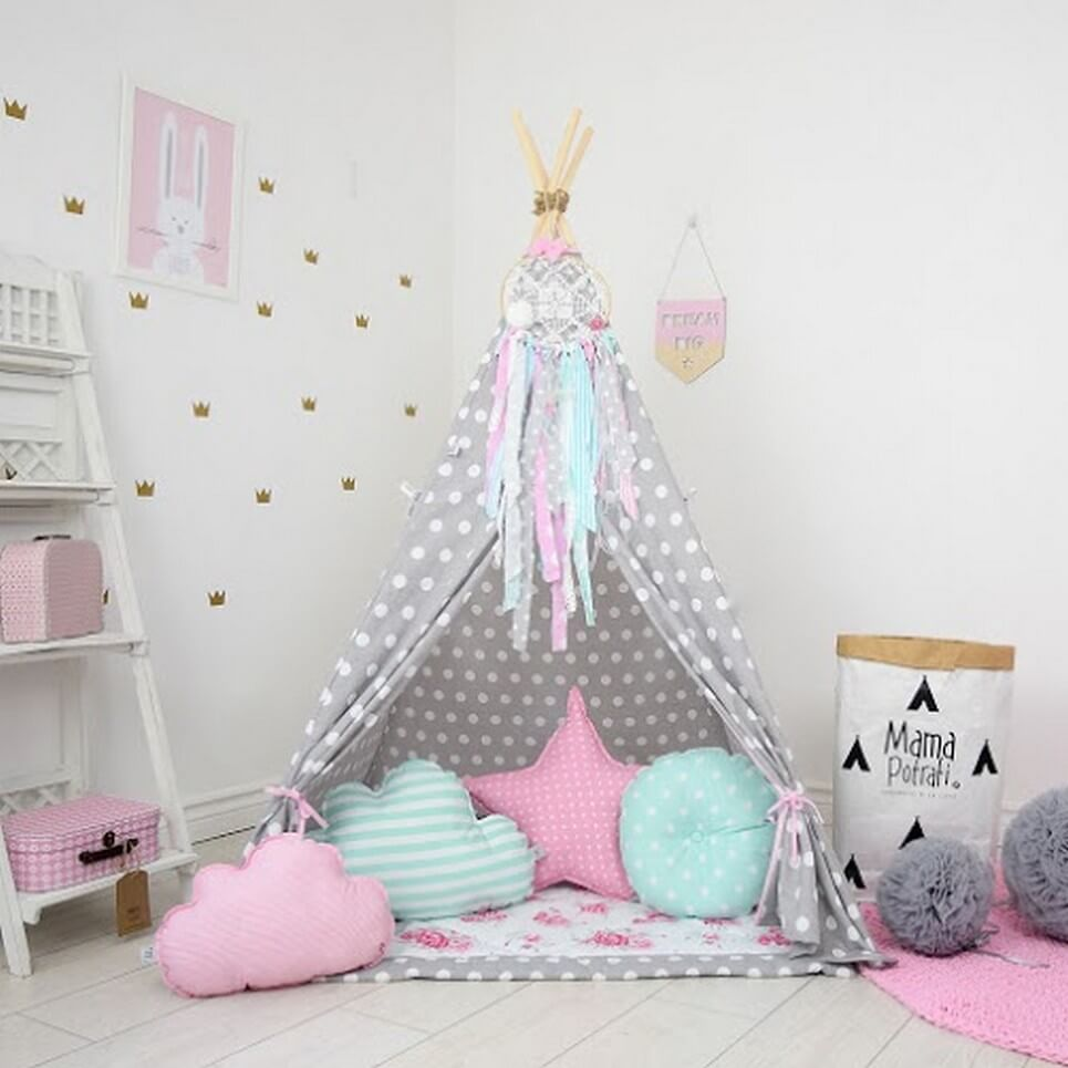 Add the perfect touch to your childu0027s room with the Flower Power Childrenu0027s Teepee Tent. & FLOWER POWER CHILDRENu0027S TEEPEE TENT | Decorative Kidsu0027 Play Tents ...