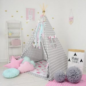 Add the perfect touch to your child's room with the Flower Power Children's Teepee Tent. Let your little enjoy their own teepee for hours of play time and imagination.