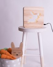 With a delicate warm light to bring a lot of joy and coziness to the child's room, the Rabbit Nursery Lamp will comfort your little one when falling asleep or to join them during sleepovers or to decorate their room.