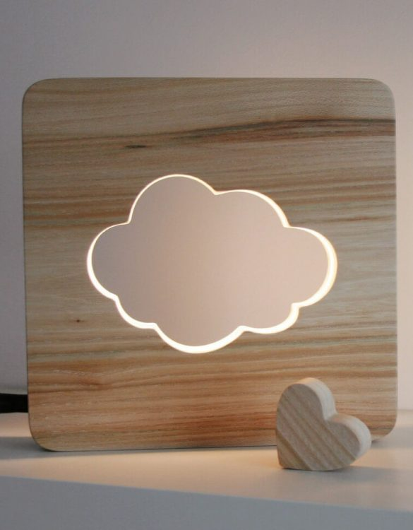 With a delicate warm light to bring a lot of joy and coziness to the child's room, the Cloud Nursery Lamp will comfort your little one when falling asleep or to join them during sleepovers or to decorate their room.
