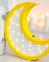 With a charming design, the Moon Wooden Night Light provides a reassuring glow for your little one, making it perfect for a nursery or kids room nightlight, or an interesting addition to any other space.
