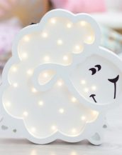 With a charming design, the Sheep Wooden Night Light provides a reassuring glow for your little one, making it perfect for a nursery or kids room nightlight, or an interesting addition to any other space.