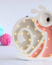 With a charming design, the Snail Wooden Night Light provides a reassuring glow for your little one, making it perfect for a nursery or kids room nightlight, or an interesting addition to any other space.