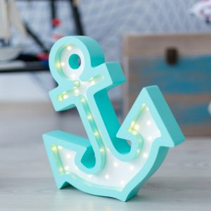 With a charming design, the Anchor Wooden Night Light provides a reassuring glow for your little one, making it perfect for a nursery or kids room nightlight, or an interesting addition to any other space.