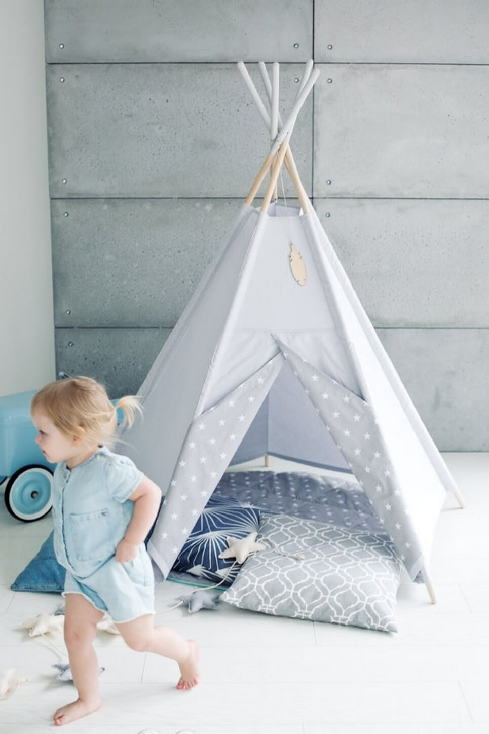 GREY SKY CHILDREN'S TEEPEE TENT | Decorative Kids' Play ...