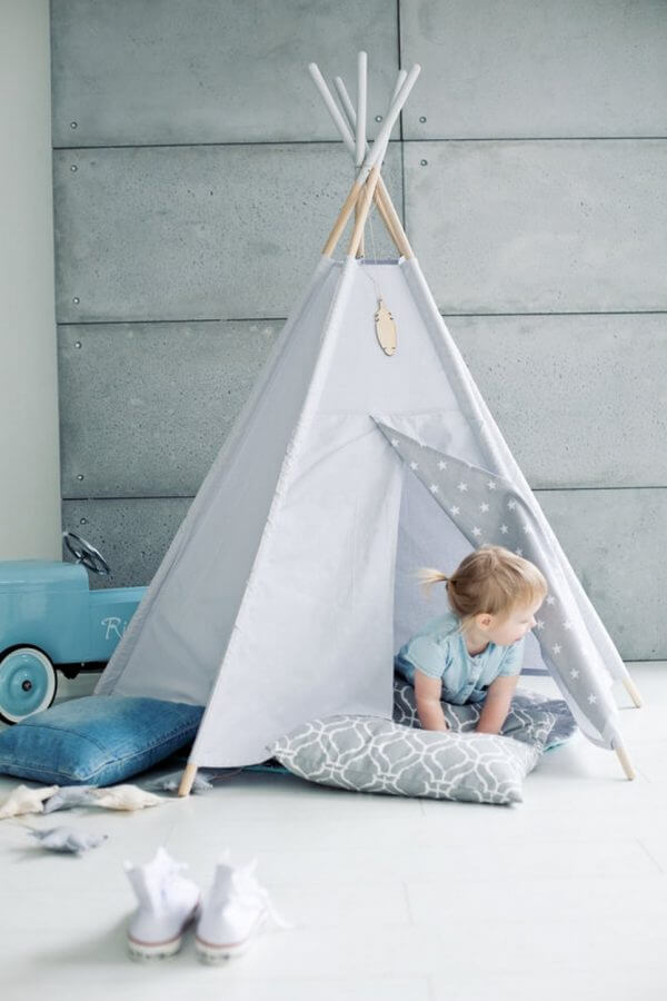 MSGFFK045 – Grey Sky Children's Play Teepee