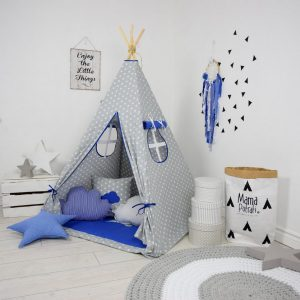 Add the perfect touch to your child's room with the Dark Blue Sky Children's Teepee Tent. Let your little enjoy their own teepee for hours of play time and imagination.