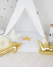 Add the perfect touch to your child's room with the Golden Shine Children's Teepee Tent. Let your little enjoy their own teepee for hours of play time and imagination.