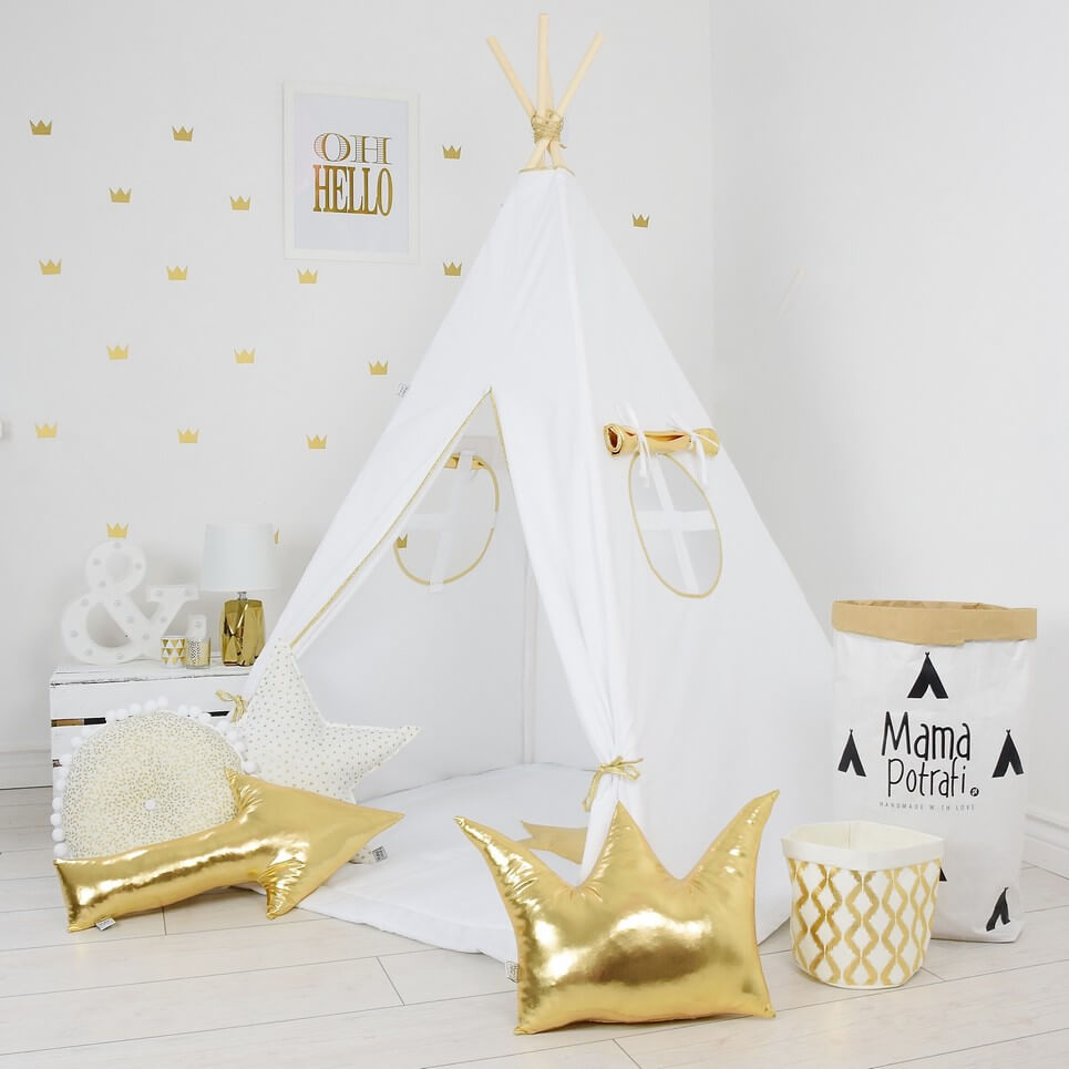 Gold Shine Childrenu0027s Teepee Tent  sc 1 st  A Matter of Style & GOLDEN SHINE CHILDRENu0027S TEEPEE TENT | Decorative Kidsu0027 Play Tents ...