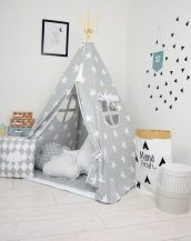 Add the perfect touch to your child's room with the Grey Day Children's Teepee Tent. Let your little enjoy their own teepee for hours of play time and imagination.