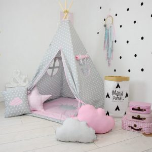 Add the perfect touch to your child's room with the Magic Moments Children's Teepee Tent. Let your little enjoy their own teepee for hours of play time and imagination.