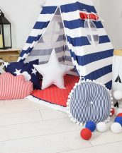 Add the perfect touch to your child's room with the Marines Children's Teepee Tent. Let your little enjoy their own teepee for hours of play time and imagination.