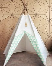 A perfect hideaway for tiny people, the Mint Mist Children's Play Teepee gives your little one the space they need to let their imagination flow.